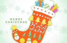 Cute Cartoon Christmas Stocking Vector