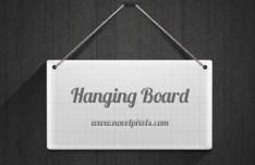Long Shadow Hanging Board PSD