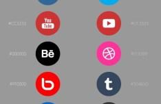 Minimal Round Social Media Icons Vector