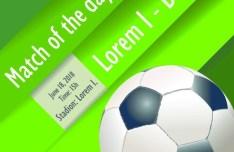 Soccer Advertising Poster Design Template Vector 01