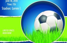 Soccer Advertising Poster Design Template Vector 02