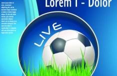 Soccer Advertising Poster Design Template Vector 04