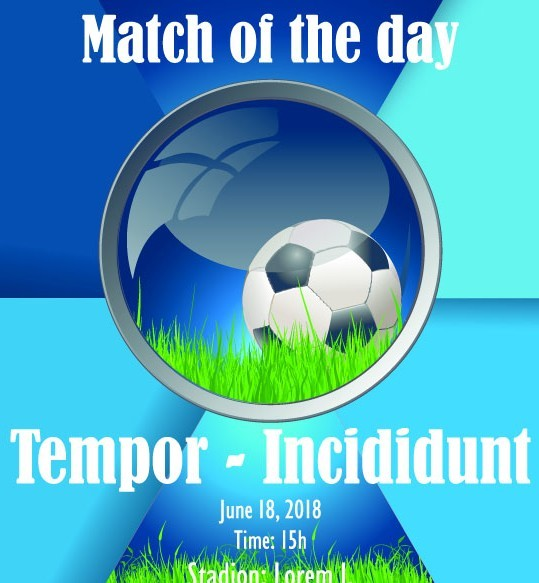 Soccer Advertising Poster Design Template Vector 05