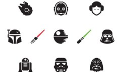10+ Star Wars Icons Vector