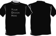 Black Short-sleeved T-shirt Template PSD