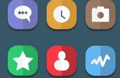 6 Flat Reflection Web Icons PSD
