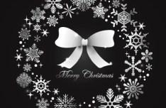Creative Christmas Garland & Wreaths with Bow Vector