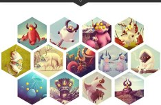 Hexagon Style Portfolio Website Template PSD