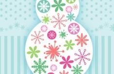 Cute Cartoon Merry Christmas Snowman Illustration Vector 02