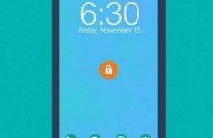 Flat Android Phone Concept Template PSD