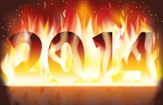 Happy New Year 2014 Text Design Vector 03