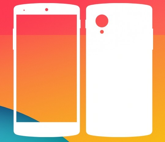 Google Nexus 5 Vector Shape