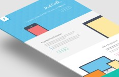 Perth Flat Web Design PSD Template