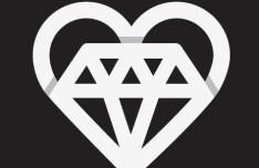 Origami Diamond Heart Vector
