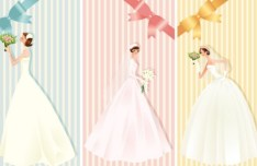 Romantic Bride Background Vector