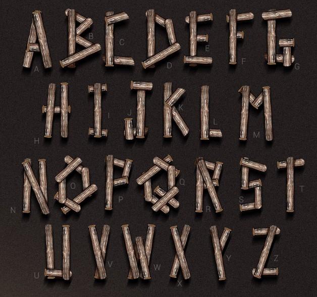 Wood Typography PSD