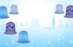 Cartoon Christmas Bells Illustration Vector