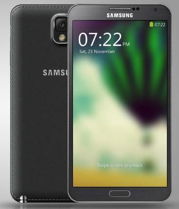 High Quality Samsung Galaxy Note III Template PSD