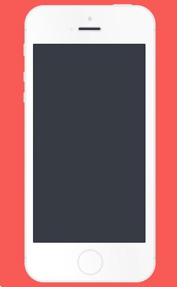 White Flat iPhone 5S Mockup PSD