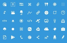 50 Glyph Icons PSD