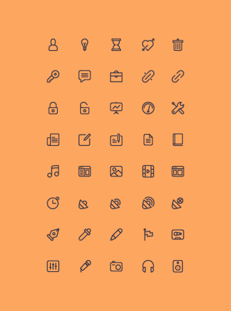 40 Outline Vector Icons - Cicons