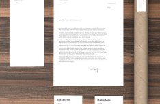 Photo Realistic Stationery Mockup PSD