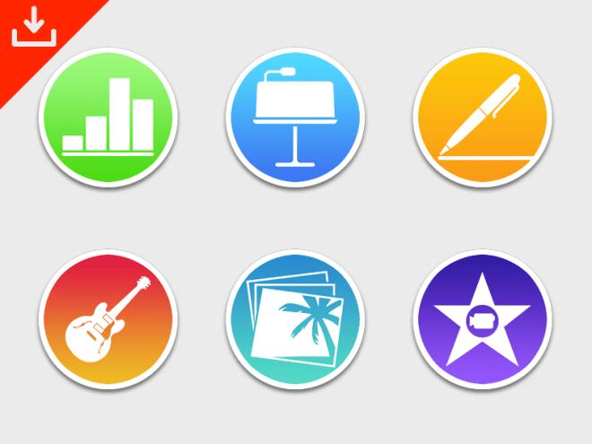 iWork & iLife OS X Icons PSD