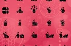 50 Vector Santa Icons