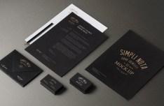 Fashion Dark Branding & Stationery Mockup PSD