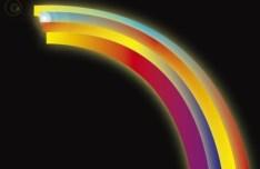 Glowing Rainbow Vector