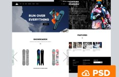 Snowboarding Website Template PSD