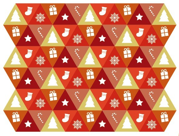 Free Triangular Merry Christmas and Happy New Year Icons Vector - TitanUI