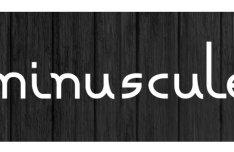 Minuscule Font