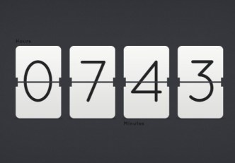 Flat Clock & Countdown Timer PSD