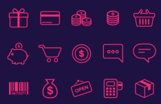 21 E-commerce Icons PSD