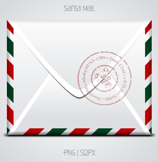 Santa Mail PSD