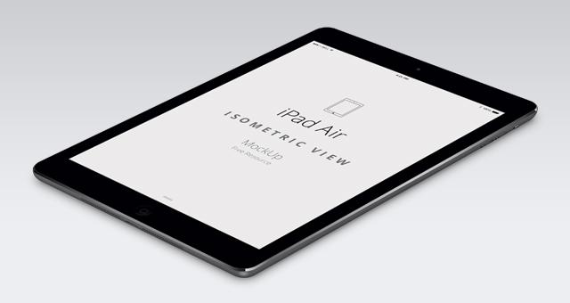 iPad Air Perspective Mockup PSD