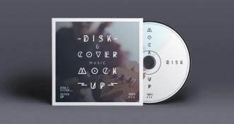 CD Cover Disk Mockup PSD