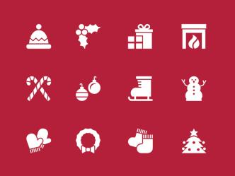 12 Vector Christmas Icons