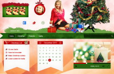 Merry Christmas Web Header Design PSD