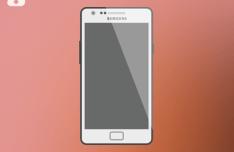 Samsung Galaxy S II Mockup PSD