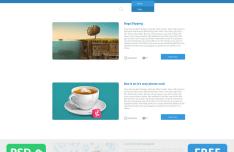 Hussar Flat Website Template PSD