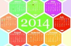 Creative 2014 Calendar Vector 03