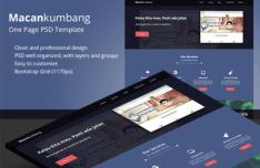 Macankumbang One Page Template PSD