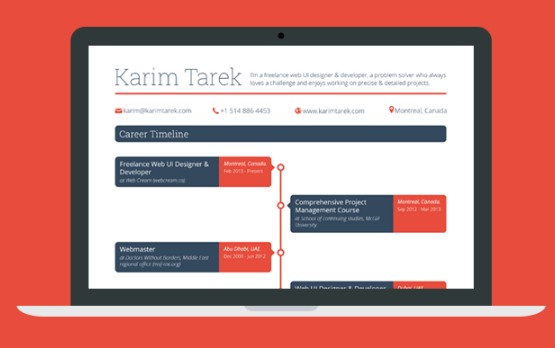 Free Career Timeline Web Template PSD TitanUI – Timeline Website Template