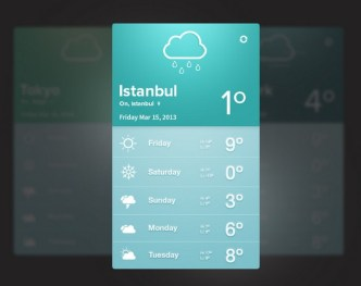 Fatih Ocak's Flat UI Elements PSD