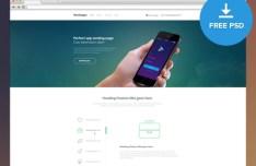 Smart App Landing Page Template PSD