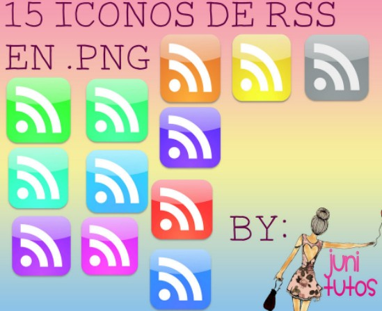15 Glossy RSS Feed Icons