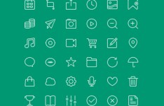 36 Thin Line Icons PSD