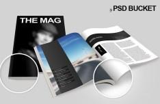 Fashion Opened Magazine Mockup PSD